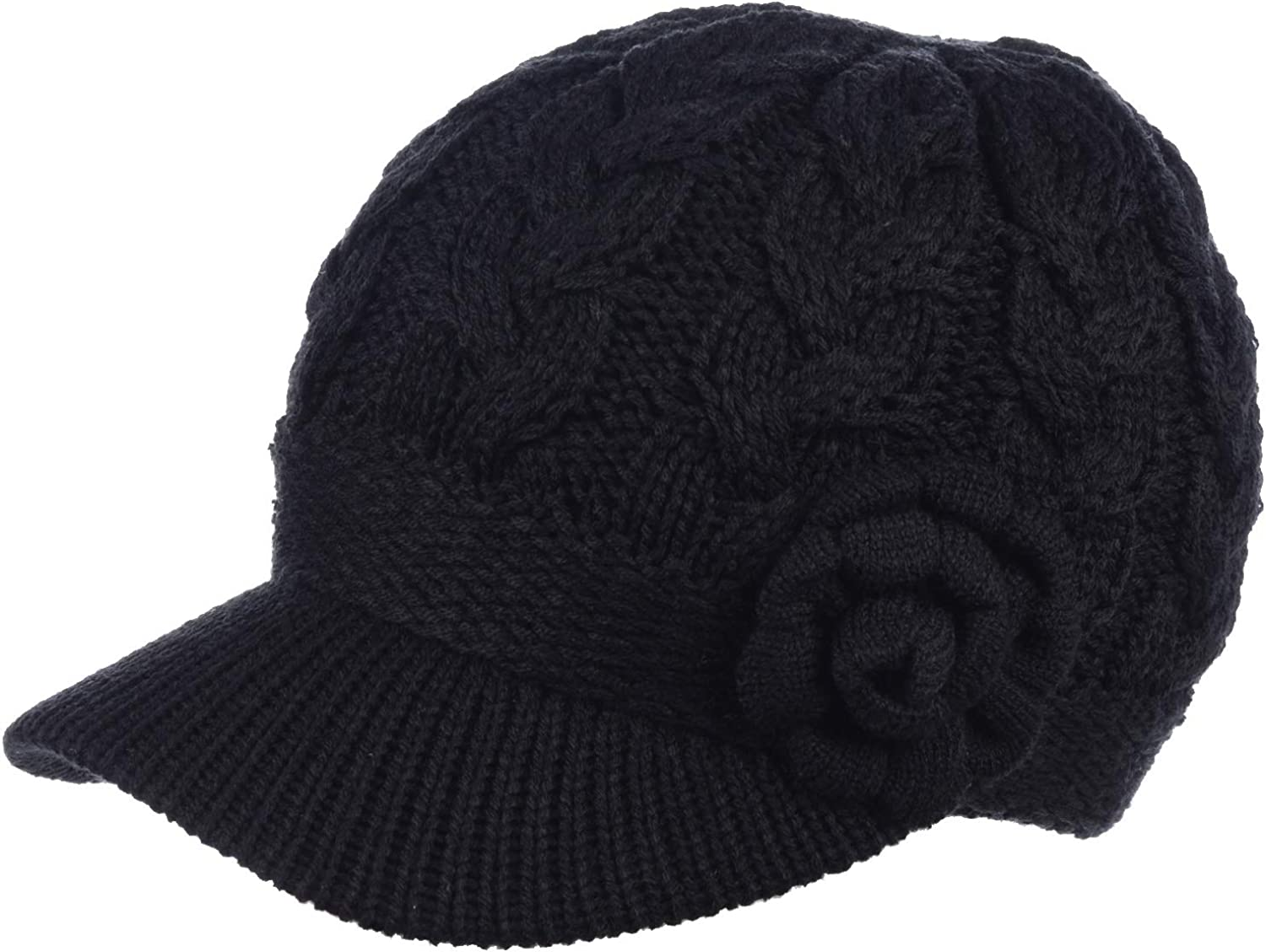 BYOS Womens Winter Chic Cable Warm Clearance SALE Limited time Knit Lined Crochet Fleece A surprise price is realized Hat