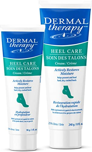 Dermal Therapy Heel Care Cream - Moisturizing Treatment that Repairs and Heals Dry, Rough, Cracked Heels and Feet | 2...