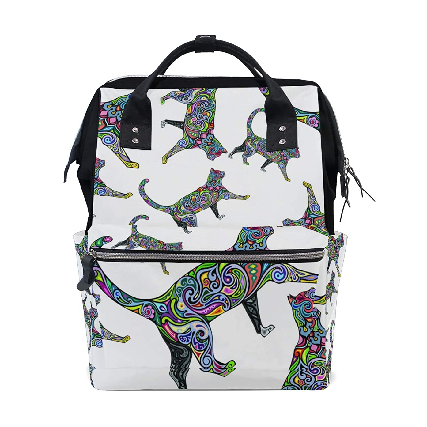 Backpack Art Psychedelic Cat School Rucksack Diaper Bags Travel Shoulder Large Capacity Bookbag for Women Men