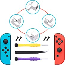 FYOUNG [New Version] Replacement Latches for Nintendo Switch Joy-Con,Lock Buckles Repair Tool Kit for Switch Joy-Cons with Screwdrivers and Tweezer