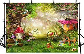 MEHOFOTO Enchanted Forest Photo Background Fairy Tale Magic Big Tree Mushroom Princess Girl Birthday Party Decorations Ban...