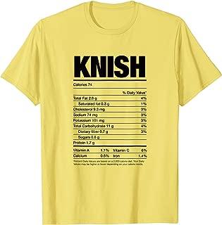 Nutrition Facts Knish Jewish Holiday Food Hanukkah Gift T-Shirt
