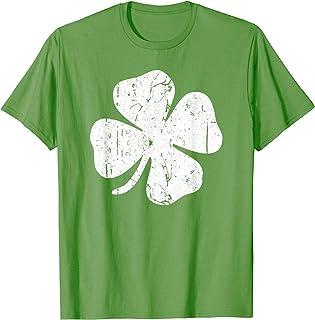 Four Leaf Clover T-Shirt Vintage Saint Patrick Day Gift T-Shirt