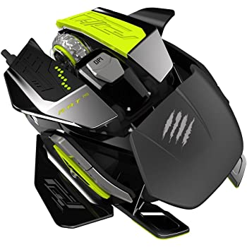 Mad Catz R.A.T. PRO X Ultimate Gaming Mouse with PixArt ADNS-9800 Laser Sensor Module for PC