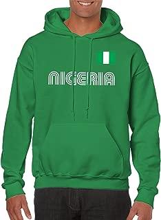SpiritForged Apparel Nigeria Soccer Jersey Hooded Sweatshirt