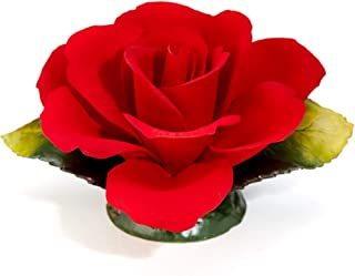 Rosa Roja Fragrant En Porcelana Hecha A Mano En Italia Por Unionporcelain Con La Marca Napoleon