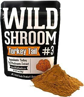 Turkey Tail Mushroom Extract Powder 10:1 | Fruiting Bodies, Triple Water Extracted, Vegan, Paleo Adaptogenic, Immune Promo...