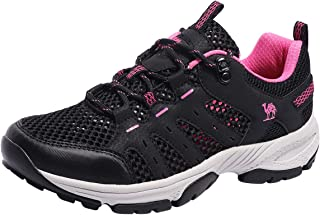 Hiking Shoes Women Lightweight Breathable Mesh Walking Sneakers Low Top Boots for Outdoor Walking Trekking Backpacking