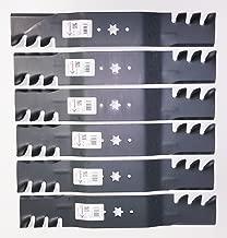 6 Heavy Duty Mulching Blades Replace MTD, Cub Cadet 742-0677, 942-0677, 742-0677A, 942-0677A, 742-0677B, 942-0677B