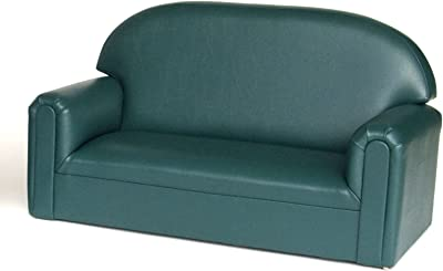 Brand New World Furniture Toddler Premium Vinyl Upholstery Sofa, Teal