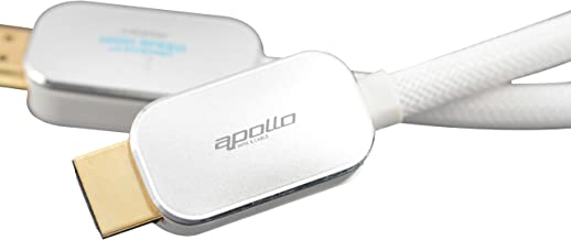 APOLLO Aluminum Alloy - DAZZLING SILVER Version 1.4 High Speed 24K Gold Plated HDMI Cable with Ethernet (2.8m/9.18ft)