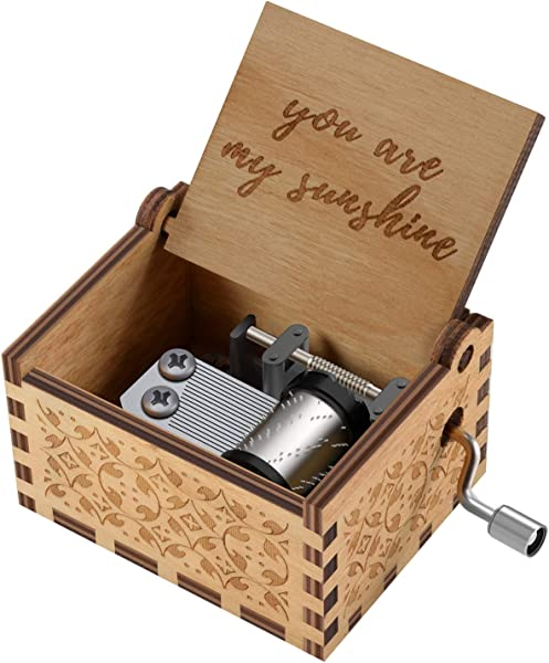 You Are My Sunshine Wood Music Boxes Laser Engraved Vintage Wooden Sunshine Musical Box Gifts For Birthday Christmas Valentine S Day Wood