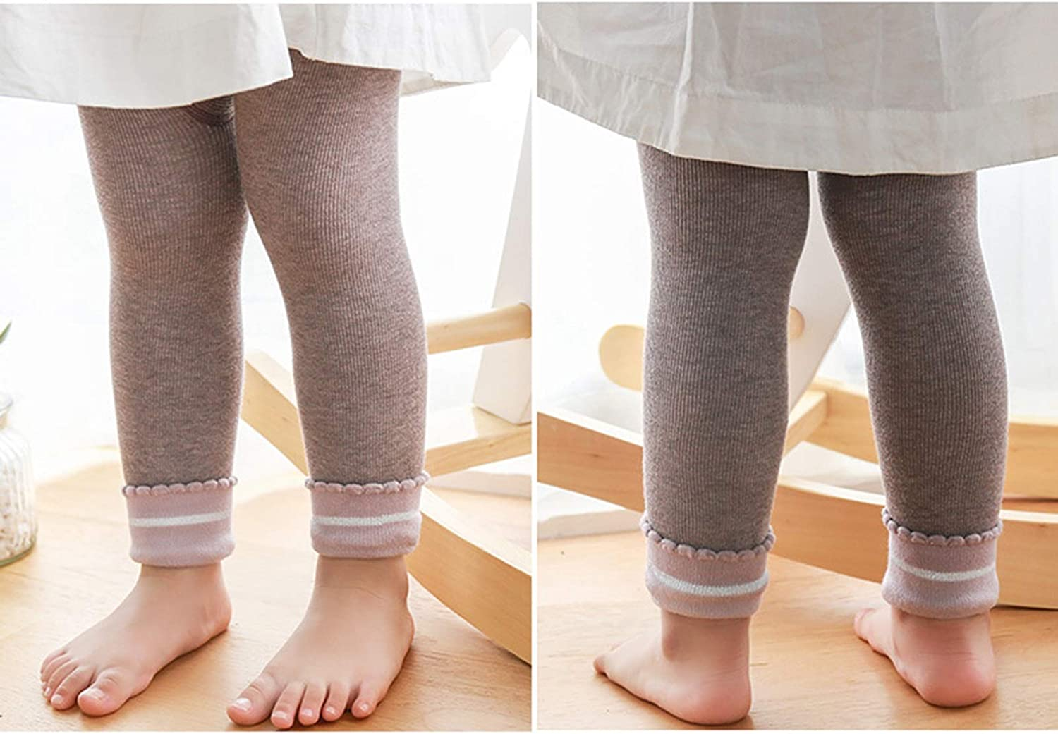 WUQIANG Baby Pantyhose Childrens Cartoon Nine-point Pants Autumn and Winter Leggings Plus Velvet Warm Baby Pants Wild Stretch Pants Pants Newborn Color : Blue, Size : XS//0-1 years