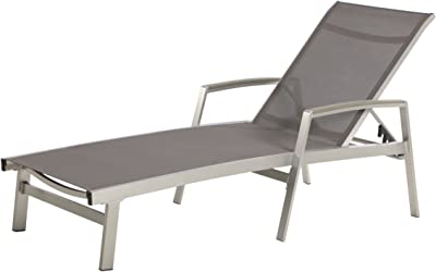 Christopher Knight Home 305143 Joy Outdoor Mesh and Aluminum Chaise Lounge, Gray