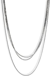 Lucky Brand Pave Strand Layer Necklace, Silver