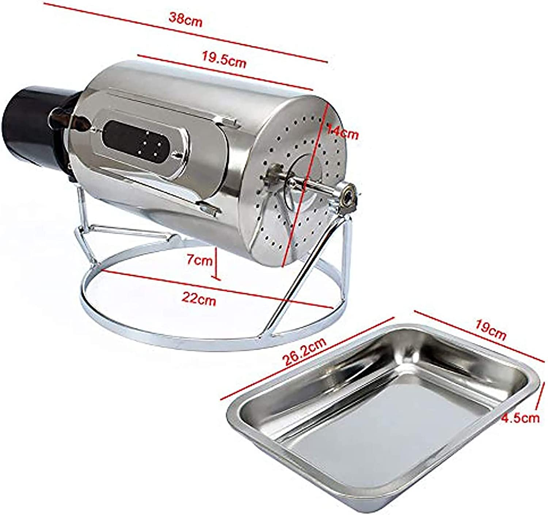 600G Torréfacteur À Café Maison Machine À Café Bean Torréfaction Machine En Acier Inoxydable Roaster Rouleau D'ustensiles De Cuisine Appareil Avec Trous,220v 220v