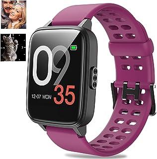 Jogfit Smartwatch Reloj Inteligente Nadando Pulsómetro Monitor de Sueño Impermeable Pulsera Actividad Caloría Podómetro, F...