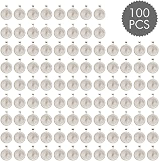 ASIBT 100 PCS Bezel Pendant Trays Round Cabochon Settings Trays Pendant Blanks, 25mm Diameter, Silver