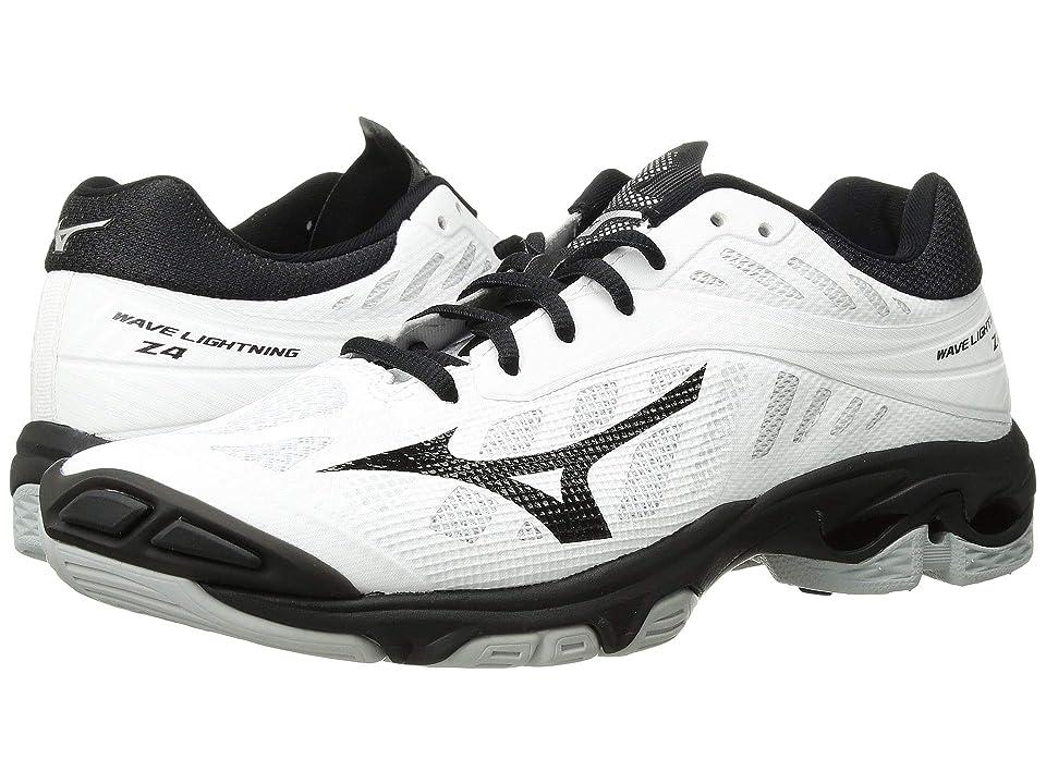 Mizuno Wave Lightning Z4 (White/Black) Girls Shoes