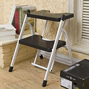 Household Step Stool  Photography Folding Step Stool  Ladder Household Folding Mobile Escalator Indoor Two Steps  Three Steps Portable Ascend 2Tier