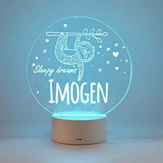Personalised Sloth LED Night Light, Sloth Lamp, LED Base Neon Light, Bedside Table Lamp