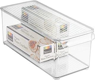 "iDesign Plastic Refrigerator and Freezer Storage Bin with Lid, BPA-Free Organizer for Kitchen, Garage, Basement, 6"" x 6"" x..."