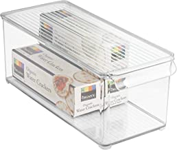 InterDesign Refrigerator and Freezer Storage Organizer Bin for Kitchen with Lid, 6 x 4 x 14.5, Clear, 1-pack Clear, Medium