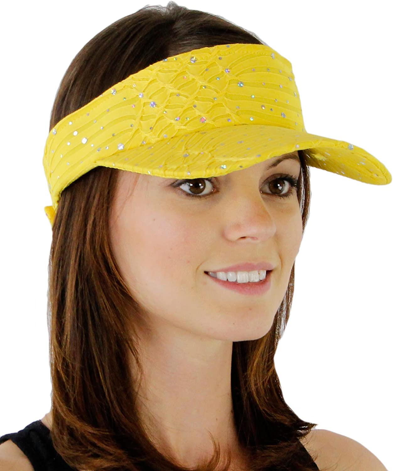 Greatlookz Fashion Glitter Sequin Visor for Flowers Ladies with Free trend rank shipping