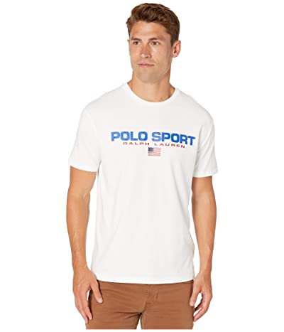 Polo Ralph Lauren Classic Fit Polo Sport Tee (White) Men
