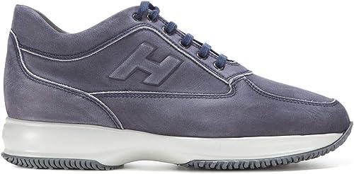 Hogan Hogan Homme HXM00N09041LNDU806 Bleu Cuir paniers  100% neuf avec qualité d'origine