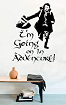 Lord of the Rings Vinyl Wall Decals Hobbit Quotes I'm Going On An Adventure! Decor Stickers Vinyl Mural MK5211