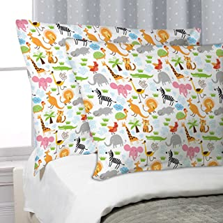 ArtzFolio Cute Animals Pillow Cover Cases Satin Fabric 27x18inch (68.6x45.7cms); Single; Without Filler