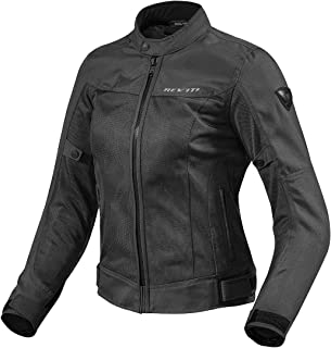 FJT224 - 0010-L40 - Rev It Eclipse Ladies Motorcycle Jacket 40 Black (UK 12)