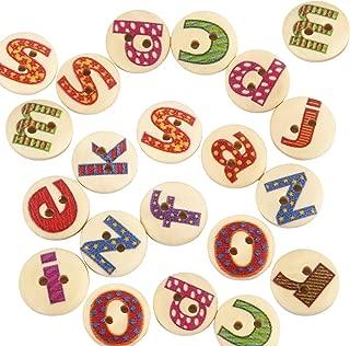 Best wooden alphabet buttons Reviews