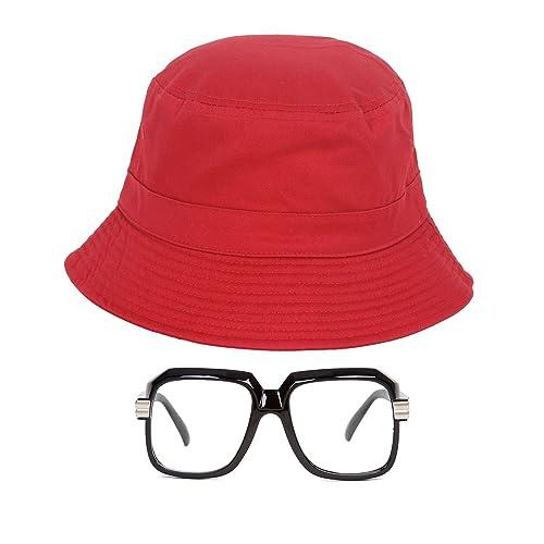 4f329b45149 Gravity Trading 80s 90s Hip-Hop Costume Kit (Bucket Hat + Old School
