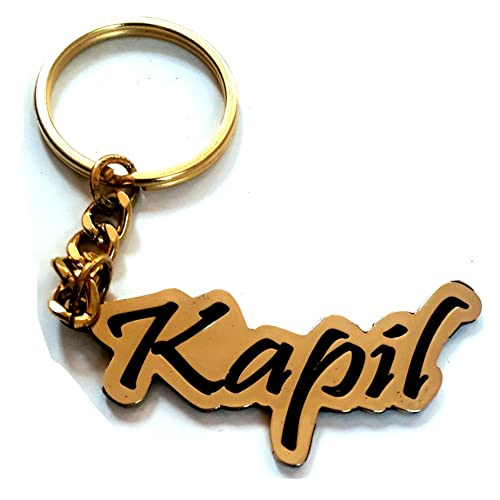Smart Galleria Name Personalised Engraved Metal Keychain (Black and Golden) 3153fda4d8