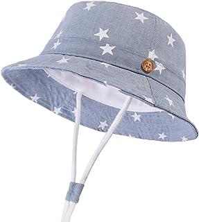 DRESHOW Bobs Bébé Filles Enfant Chapeau de Soleil Unisexe en Pliable Protection Anti-UV Solaire Plage Chapeaux de Soleil B...