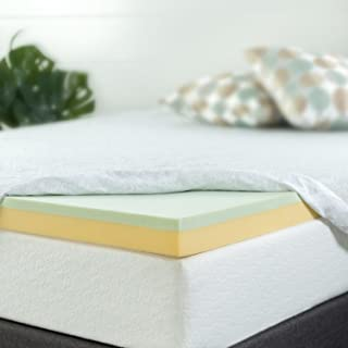 Zinus 3 Inch Green Tea Memory Foam Mattress Topper, Full