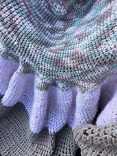 Handmade Dress kind of Throw Afghan Lapghan