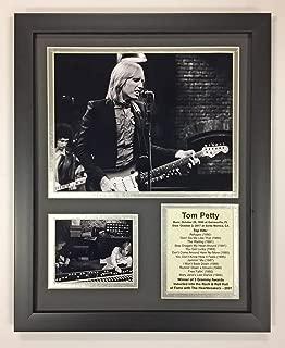 Tom Petty - Black and White - Framed 12