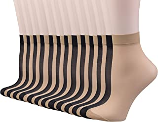 Women's 30D Sheer Nylon Socks 24 Pairs Ankle High Tights Hosiery Socks