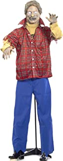 Forum Novelties Life Size Latex Plaid Shirt Zombie Halloween Prop with Stand