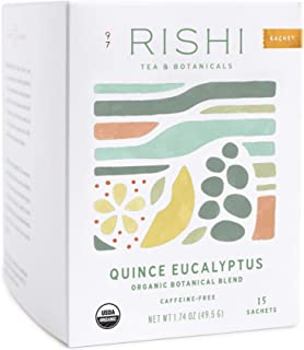 Rishi Tea Quince Eucalyptus Herbal Tea | Immune Support, Organic Botanical Blend, Caffeine-Free, Ayurvedic, Energy-Boostin...