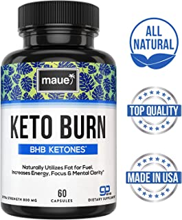 Premium Keto Diet Pills - Advanced Keto Burn BHB - Boost Energy & Focus, Manage Cravings, Support Metabolism - Exogenous Ketones Supplement for Women and Men - 60 Capsules