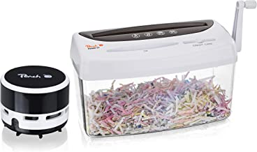 Peach PS300-21A Particle Cut Shredder and Mini Table Vacuum Cleaner PA105  1 Sheet   4L   P-4   Paper CDs and Credit Cards...