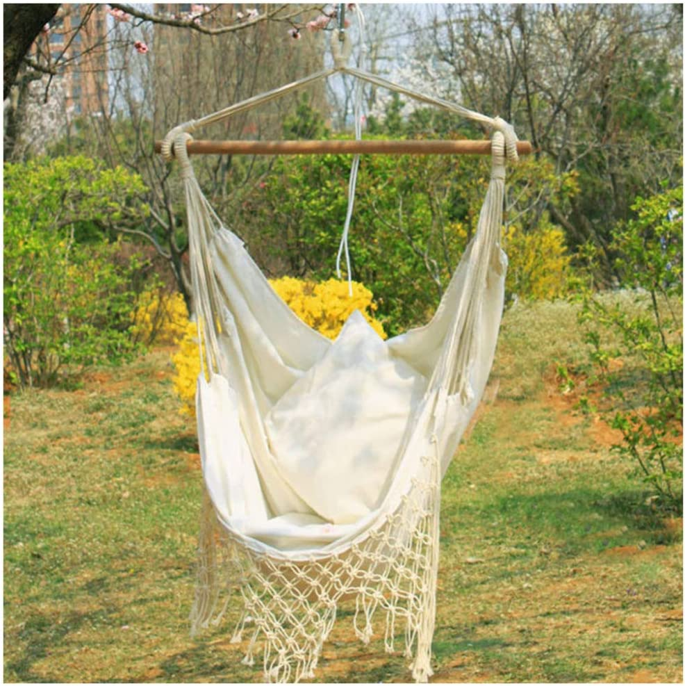 LSYOA Hammock Chair Hanging Rope Cotton Sale Raleigh Mall SALE% OFF Weave Swing Cha