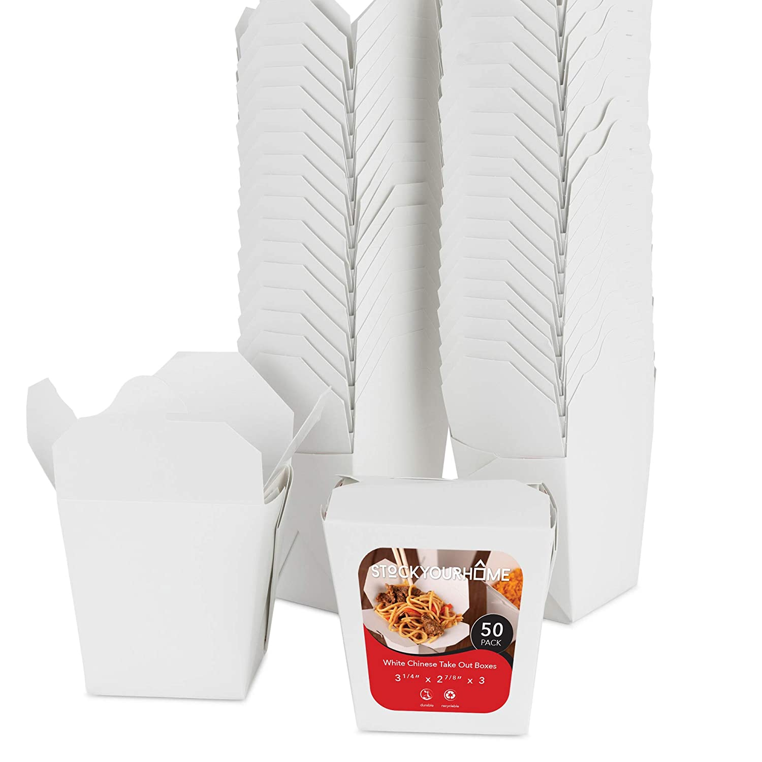 Paper Surprise price Take Out Recommendation Food Containers White 16 Oz Chinese Microwaveable