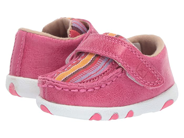 Twisted X  Driving Moc (Infant/Toddler) (Pink/Multi Canvas) Shoes