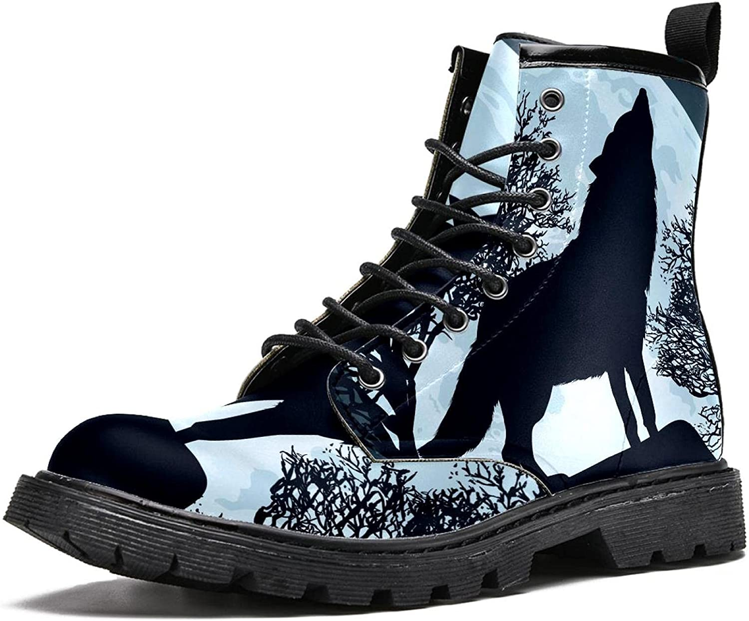 MAPOLO Boots Opening large release sale for Women Wolf Full Challenge the lowest price of Japan ☆ Print Fashion High Moon Women's