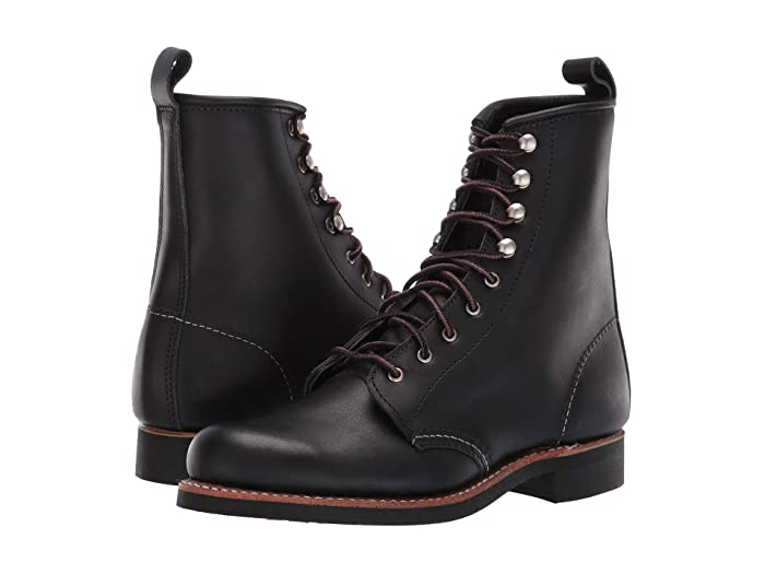 Vintage Boots- Buy Winter Retro Boots Red Wing Heritage Silversmith Black Boundary Womens Lace-up Boots $340.00 AT vintagedancer.com